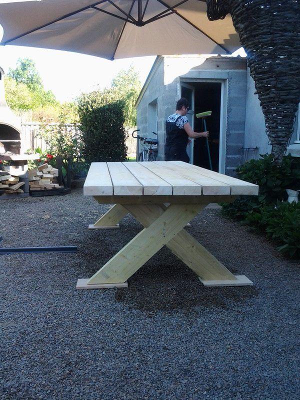 Best Table De Jardin En Bois Fabrication Pictures - Amazing House ...
